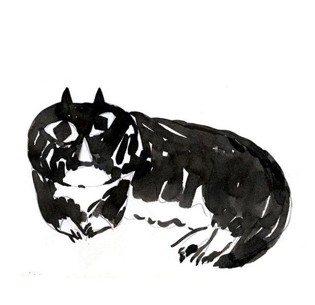 A stupid one _ Wensi Zhai _ Ink illustration