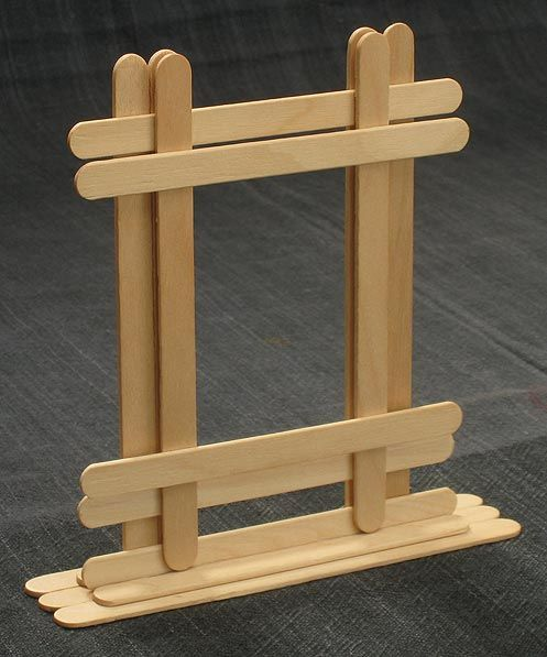 Instructions for Popsicle stick picture frame