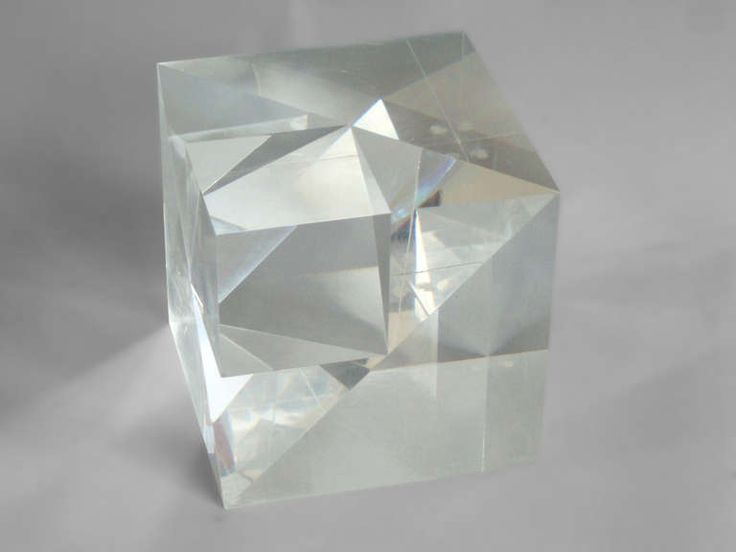 Lucite Square on a Cube Sculpture | From a unique collection of antique and modern sculptures at https://www.1stdibs.com/furniture/more-furniture-collectibles/sculptures/