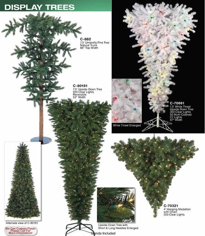 Upside-Down Christmas Trees Space-saving floor space
