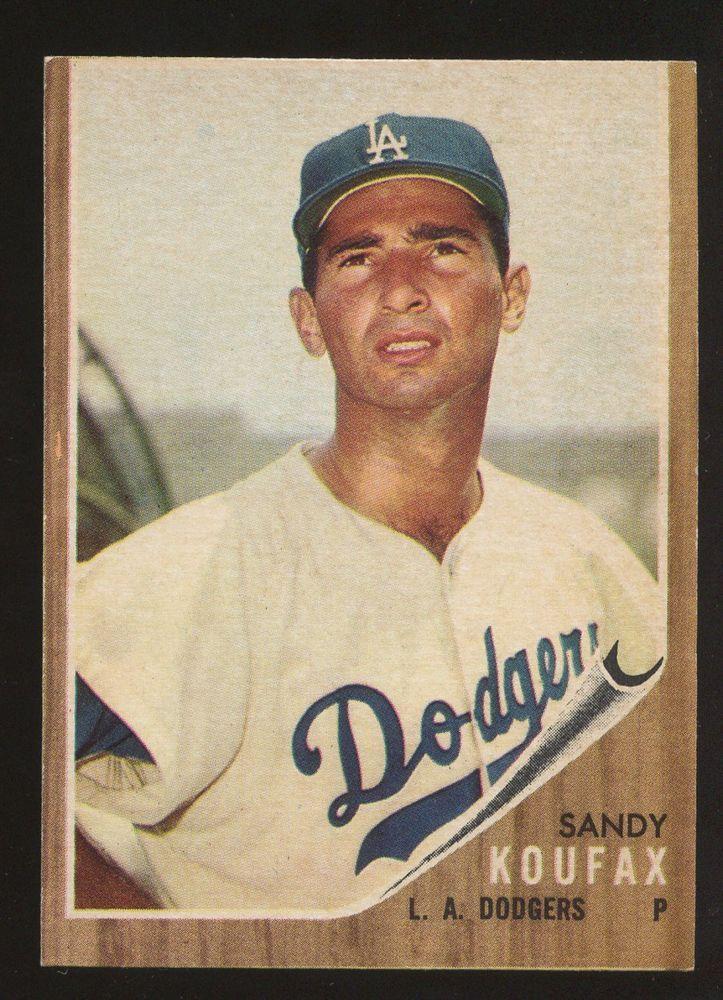 1962 Topps 5 Sandy Koufax Los Angeles Dodgers Hof Baseball Cards Sandy Koufax Baseball
