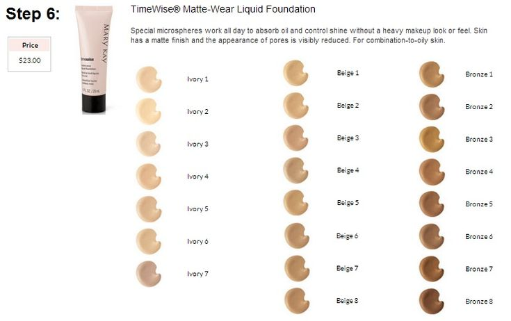 Mary Kay Matte Wear Foundation Color Chart Il Me Faut Ce