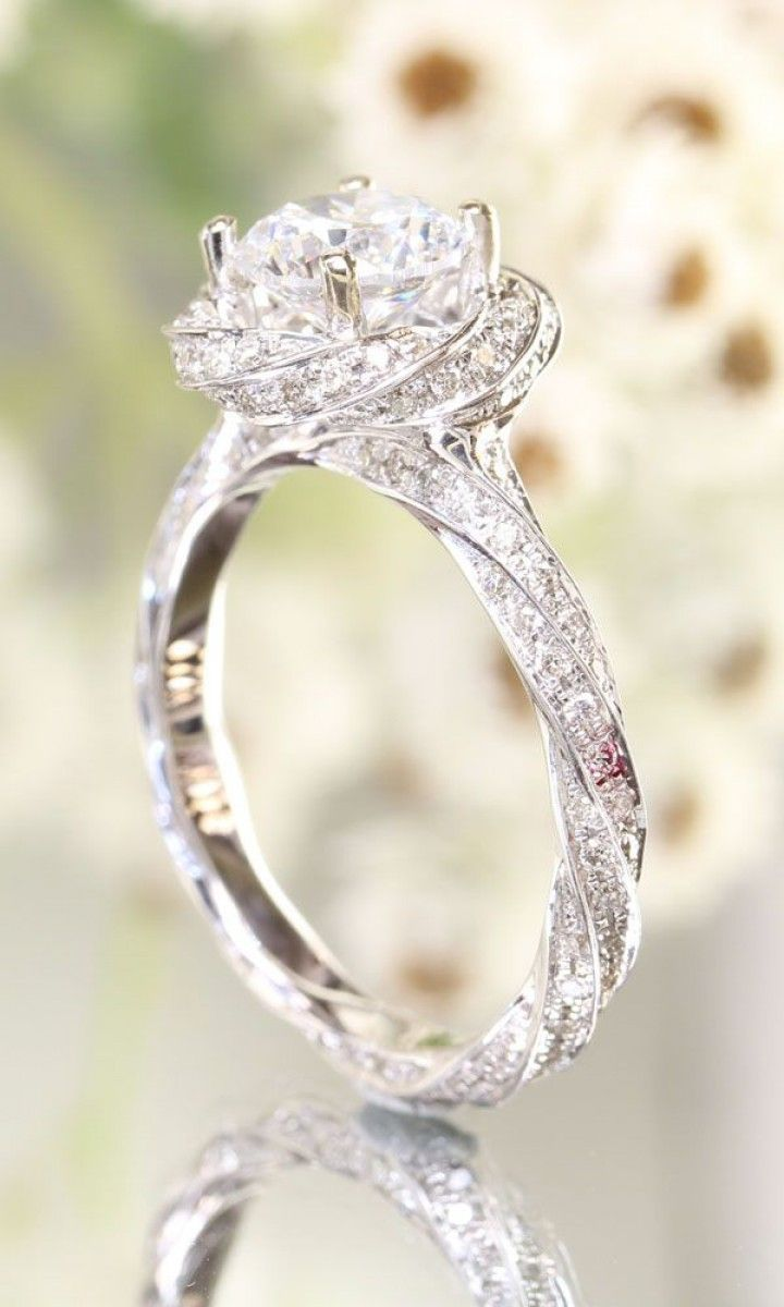 How Many #diamonds Do You Think This Gorgeous @greenlakejewelry # Engagementring Is Made Up