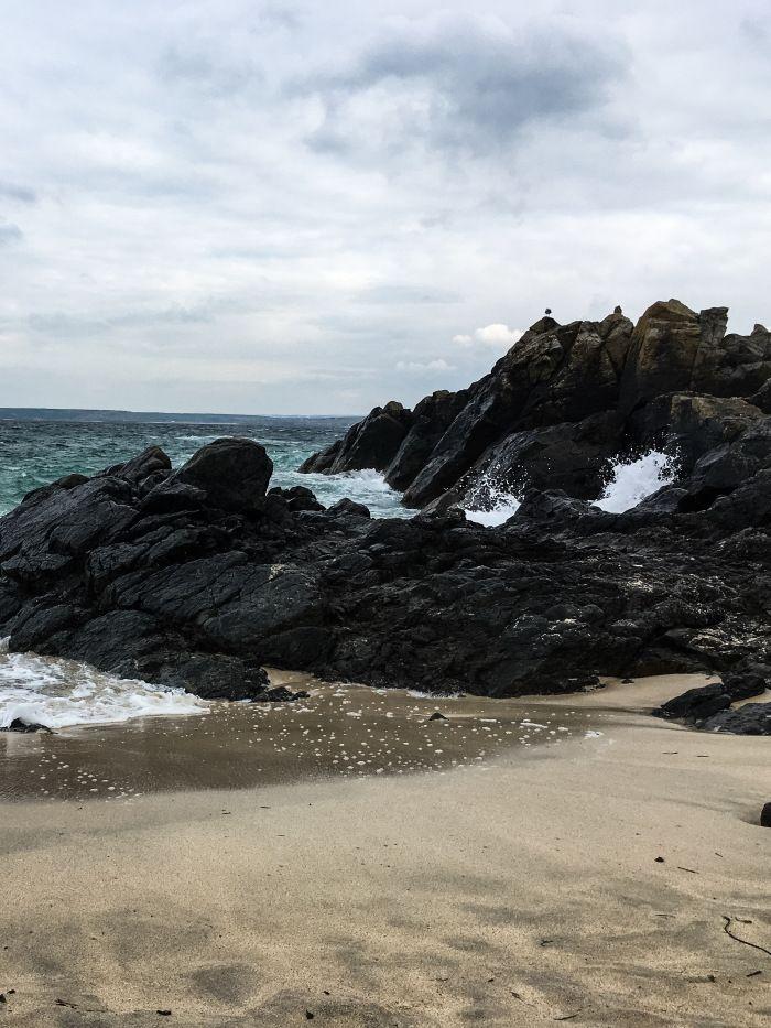 Cornwall beach on a wintery day