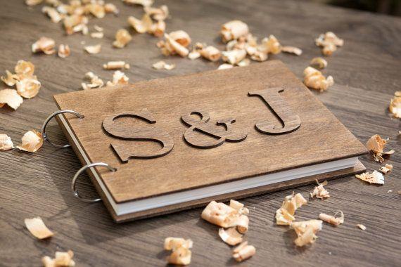 Guest Book Wood Wedding Guestbook Rustic Wedding by woodlack