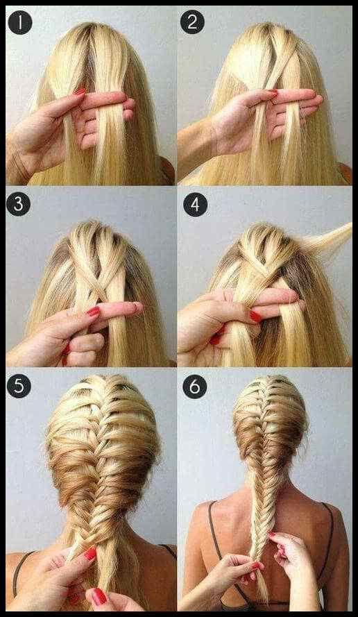 25 +> 25 semplici tutorial di acconciatura intrecciata che chiunque può padroneggiare i capelli …