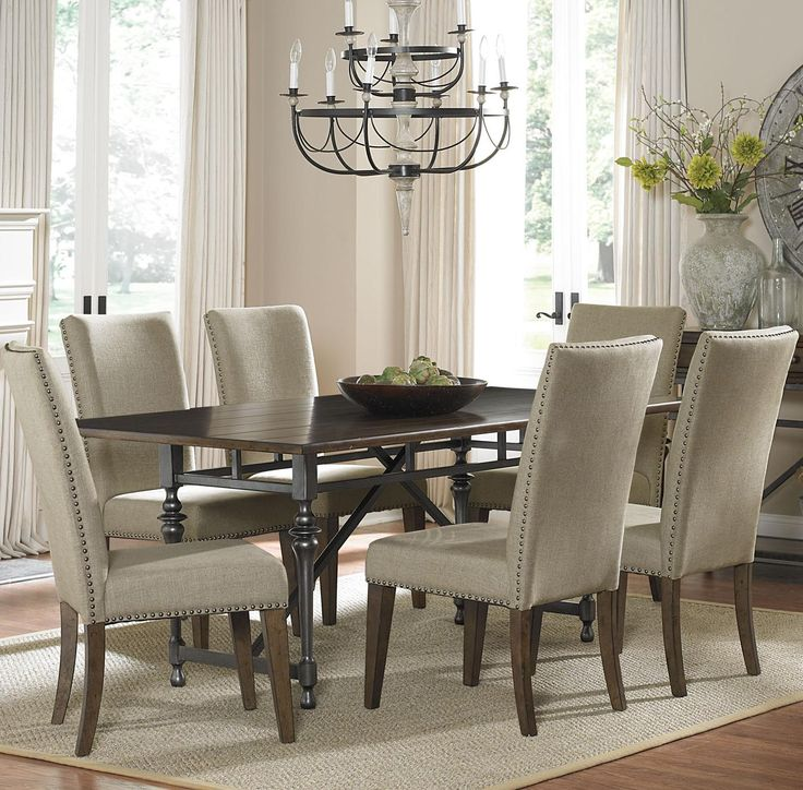 Ivy Park 7 Piece Dining Table And Upholstered Chair Set By Liberty Furniture