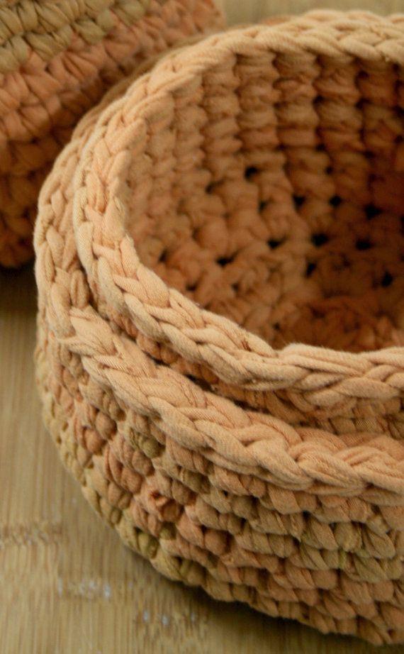 Handmade Crochet Basket -set of 2