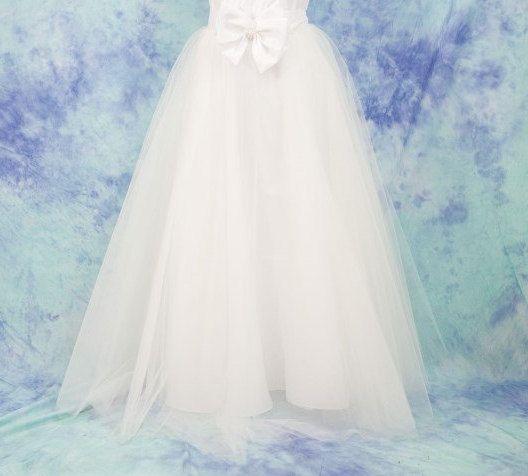 Gonna in tulle lunga,gonna sposa in tulle,gonna in tulle damigella,Wedding dresses,gonna ecru tulle,Abito cerimonia ,Gonna in tulle bianco di MAQUELLA su Etsy