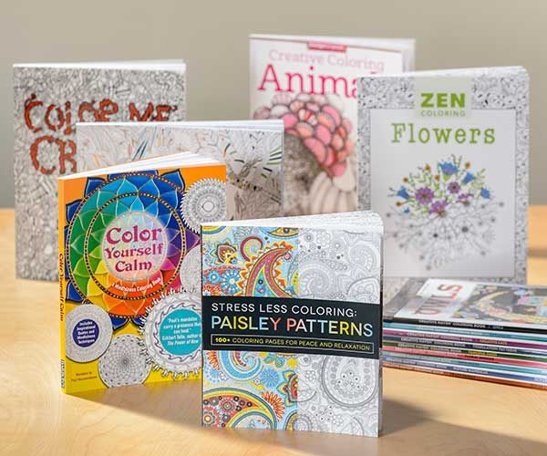 coloring books for adults feature heavier stock paper designed for pencils - Coloring Book Paper Stock