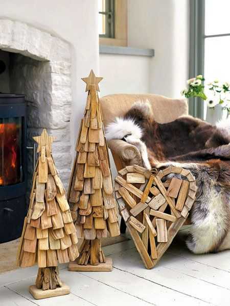 38 best images about adornos navide os en madera on - Como decorar para navidad ...