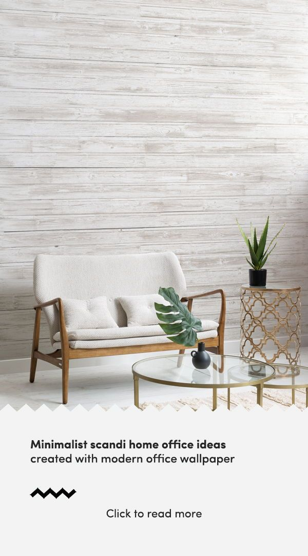 Create A Minimalist Scandinavian Style Home Office With Modern Office Wallpaper Murals And Elevate Office Wallpaper Scandinavian Office Scandinavian Style Home