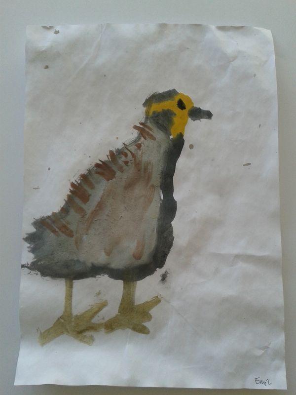 Ptaki malowane akwarelą