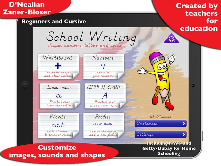 449 best ipad apps for school literacy images on pinterest app like other ipad apps designed to teach handwriting school writing has number letter and fandeluxe Choice Image