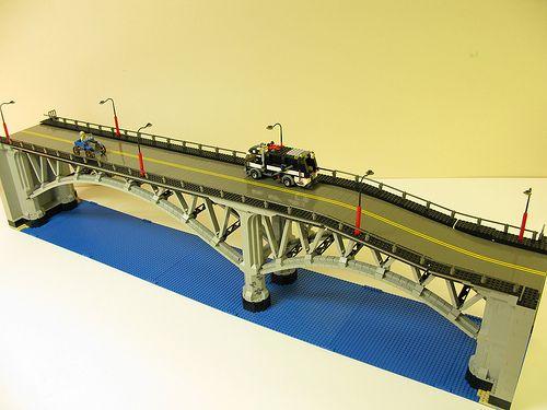 LEGO bridge  by DeGobbi, via Flickr