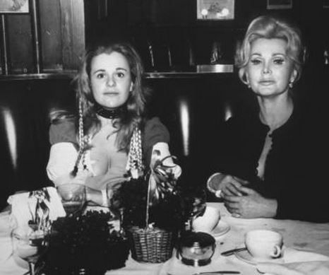 dining with daughter Francesca Hilton