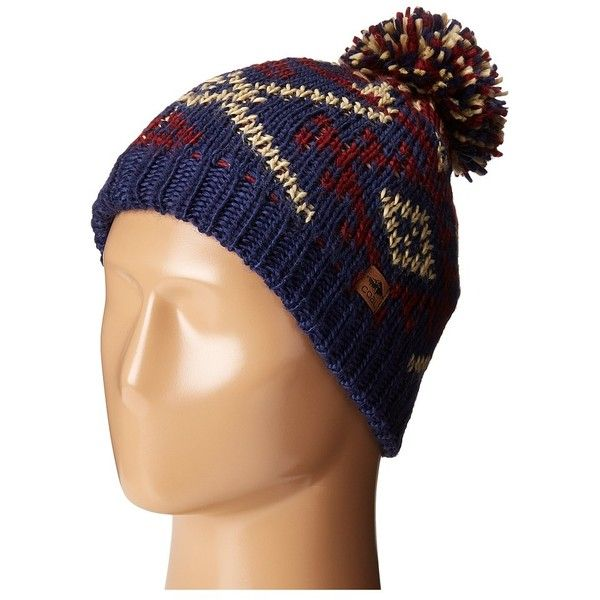Coal The Purcell (Navy) Caps (50 CAD) ❤ liked on Polyvore featuring accessories, hats, navy cap, beanie cap, navy blue hat, beanie cap hat and fleece lined beanie