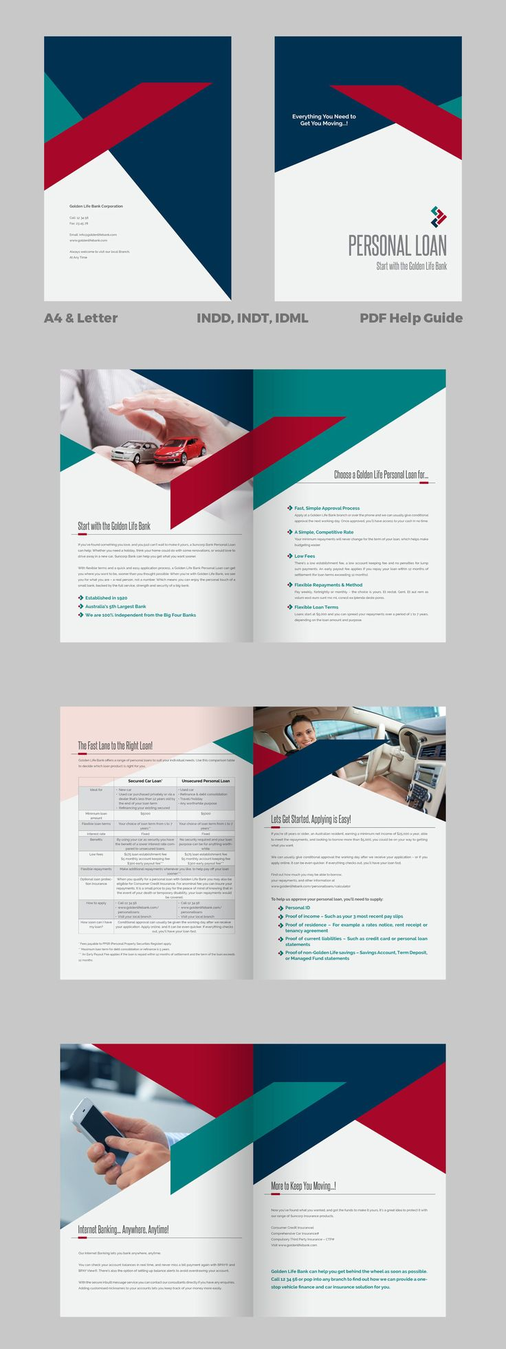 Personal Loan - Banking Brochure Template InDesign INDD