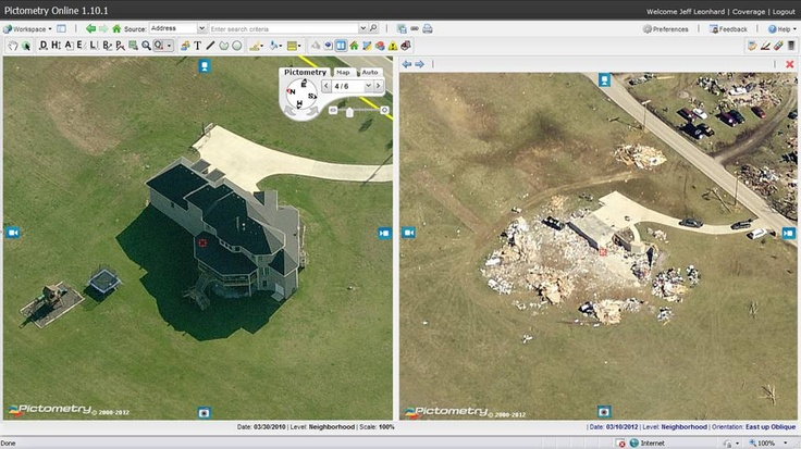 Before And After Tornado #Pictometry Image Of House In