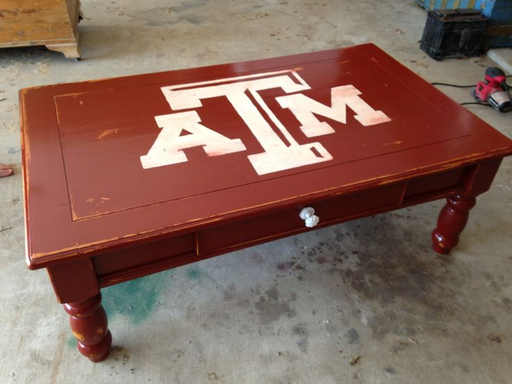 1000 images about maroon white diy on pinterest for Football coffee table