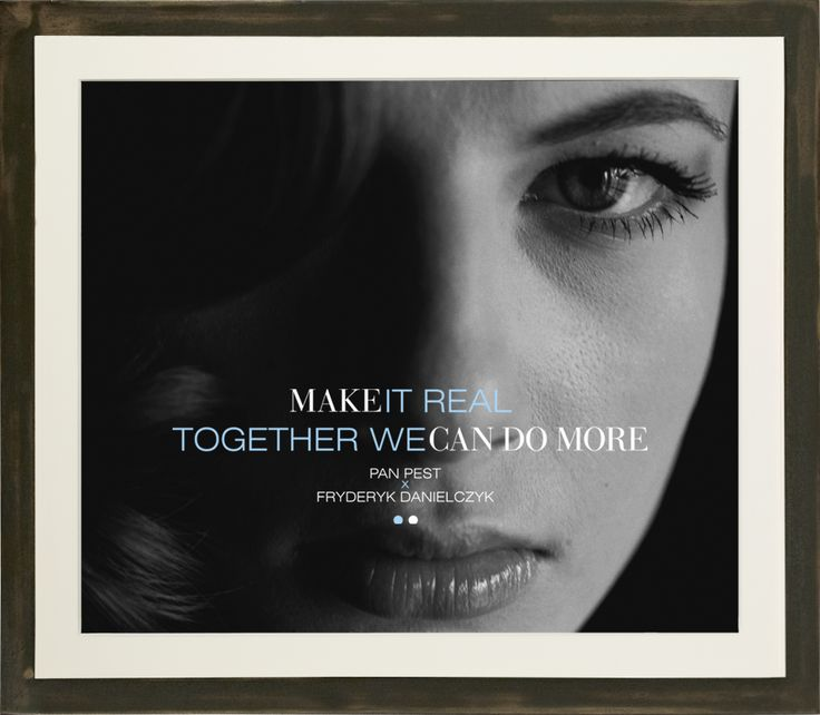 Together we can do more. Make it real. Made from a negative, original print, Baryte paper, black-and-white photography.  Fine art photographs. www.artandlaw.pl www.fryderykdanielczyk.com