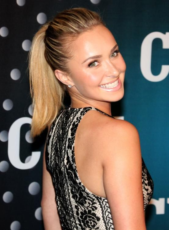 Hayden Panettiere - Hollywood inspired ponytails (via Flair.be http://www.flair.be/nl/kapsels/300149/hollywood-loves-ponytails-15-x-inspiratie)