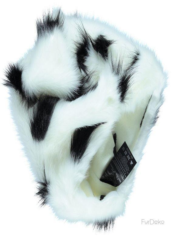 Poduszka dekoracyjna GRONO biały/Faux fur pillow GRONO white