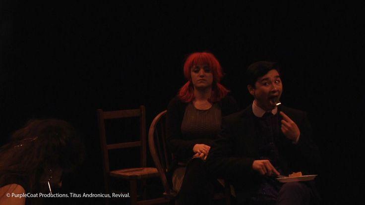 © PurpleCoat Productions. 'Titus Andronicus Revival', Caius (Alexandra Walker), Saturninus (Sam Liu)