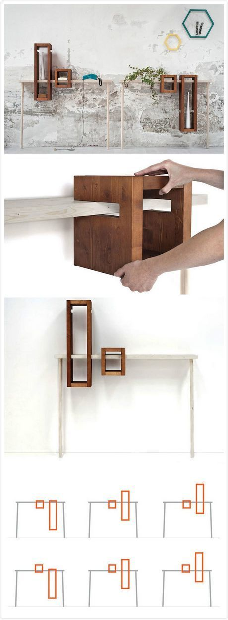 Adjustable box shelf-would be way cool with some floating shelves. - Interior Style