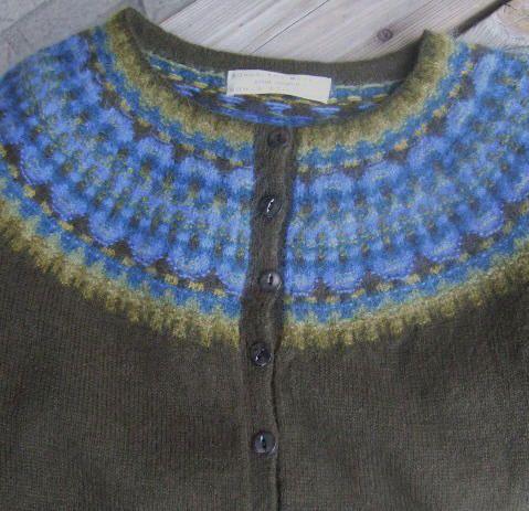Blått Ljus jumper/kofta - Bohus Stickning, Blue Light