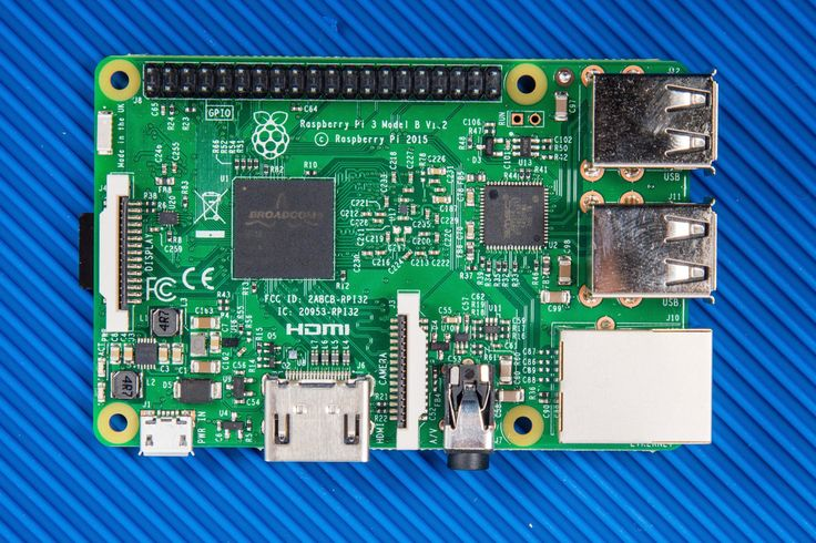 The front side of new Raspberry Pi 3.