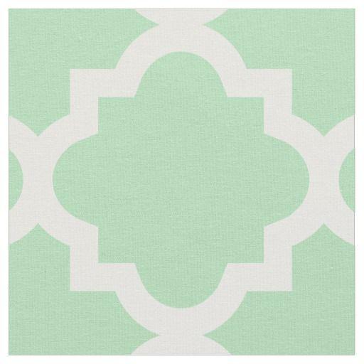 Mint Green Quatrefoil Pattern | Fabric