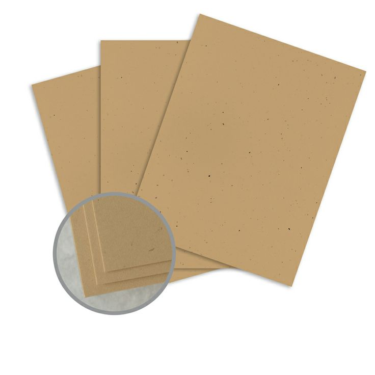 Royal Fiber Kraft Card Stock - 8 1/2 x 11 in 80 lb Cover Smooth  30% Recycled 250 per Package