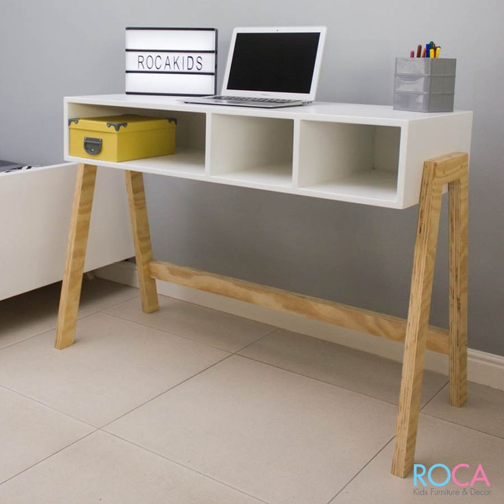 Product description:  Our Urban is a modern minimalistic option for a tween through to adult. It provides a great work space. The timber legs are a main feature and the white top adds to, this timeless design's minimalistic look. The shelving under the top is great for stowing away a laptop and stationary.  Features:    Ample storage with dividers   Trendy design   Compact  Dimensions:    1100mm L x 450mm W x 780mm H  Delivery detail:    4 Week lead time from time of order & payment   Com...