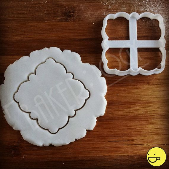 Classic Milan Plaque cutter and Benelux Plaque  Fondant by Made3D