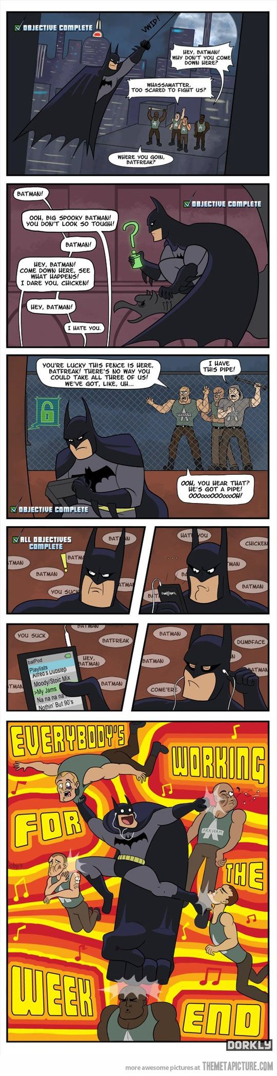 It really feels like that when I play Arkham City…