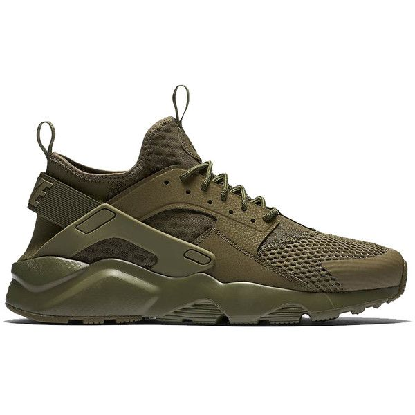 The Nike Air Huarache Run Ultra BR Channels Military Inspiration ($38,000) ❤ liked on Polyvore featuring activewear