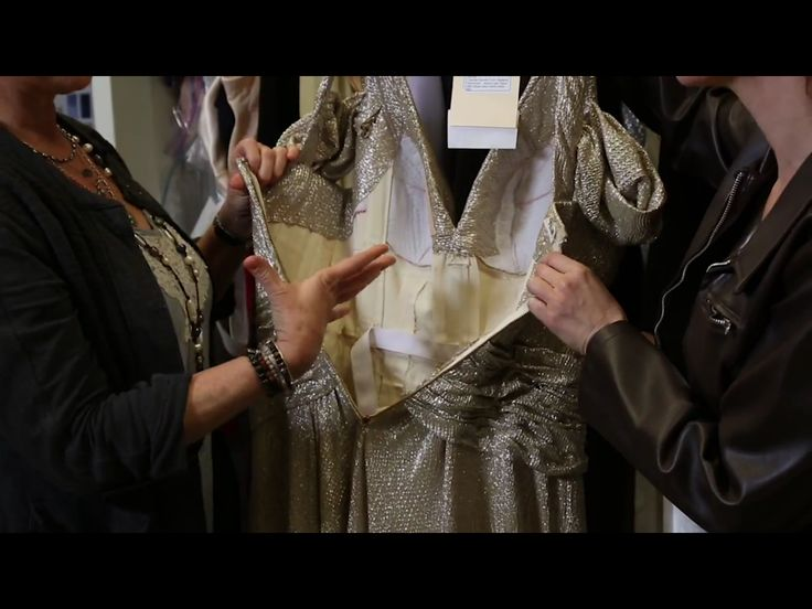 Peggy Carter's gold dress, a detailed look from inside the costume department.