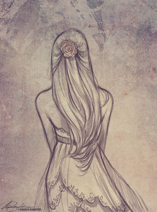It's such a simple, pretty, textured sketch. (by Charlie Bowater) would be a cool wall hanging