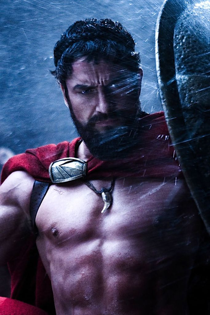 Gerard Butler as 'King Leonidas' in 300 (2006)                                                                                                                                                                                 More