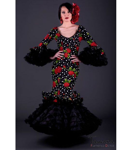 trajes de flamenca 2018 mujer - Roal - Alhambra Estampado Flores