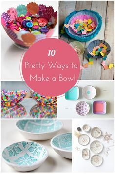 Pretty bowl DIY projects fun for kids and adults.