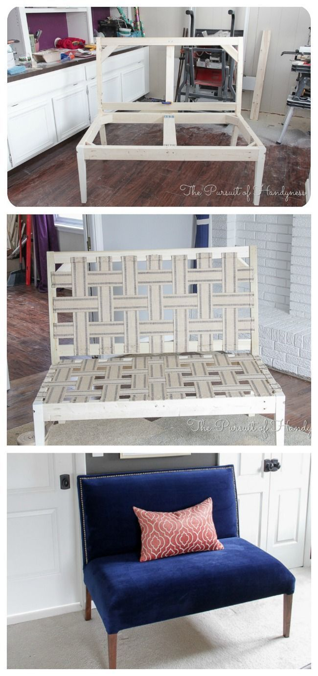 Ana White | Diy Upholstered Settee - DIY Projects #woodworkingbench