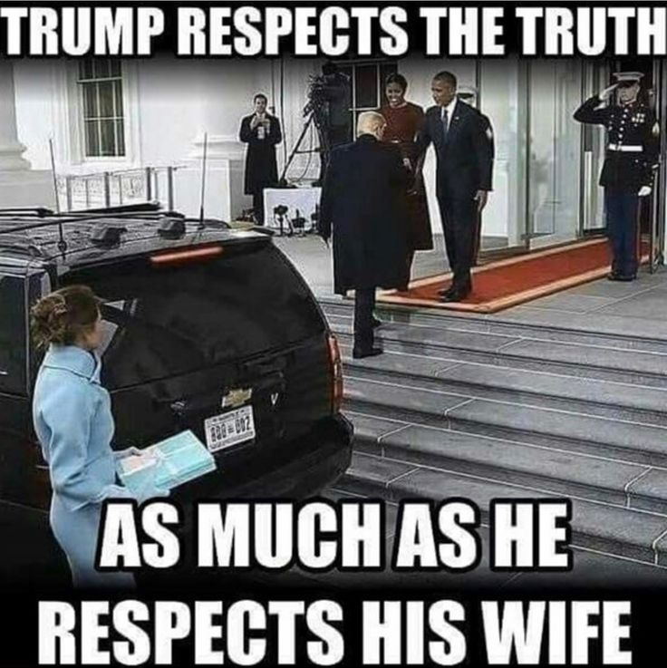 He couldn't get his fat ass into the white house fast enough to actually wait for his wife to walk with him. Asshole!