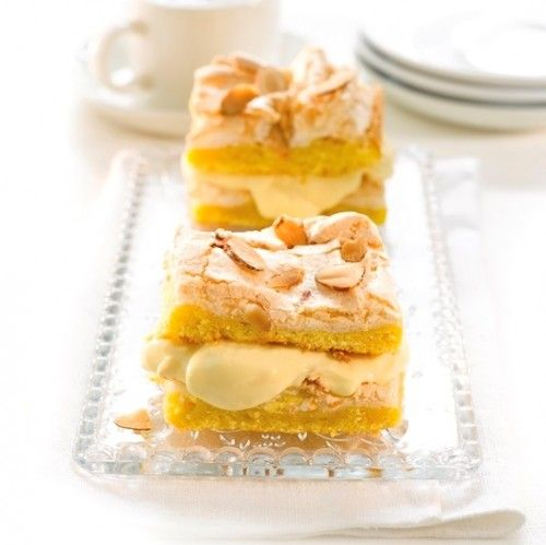 """This treat is often called """"Verdens Beste"""", thanks to layers of meringue, vanilla cream, and almonds."""