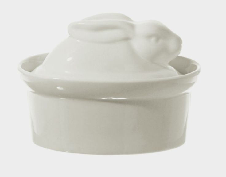 La Porcellana Bianca White Porcelain Rabbit Shaped Casserole Dish Terrine P001501016 => Special offer just for you. : Bakeware