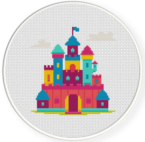 Charts Club Members Only: Dream Castle Cross Stitch Pattern