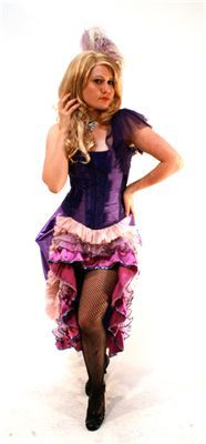 masquerade costumes moulin rouge purple ruffles - Masquerade Costumes Halloween