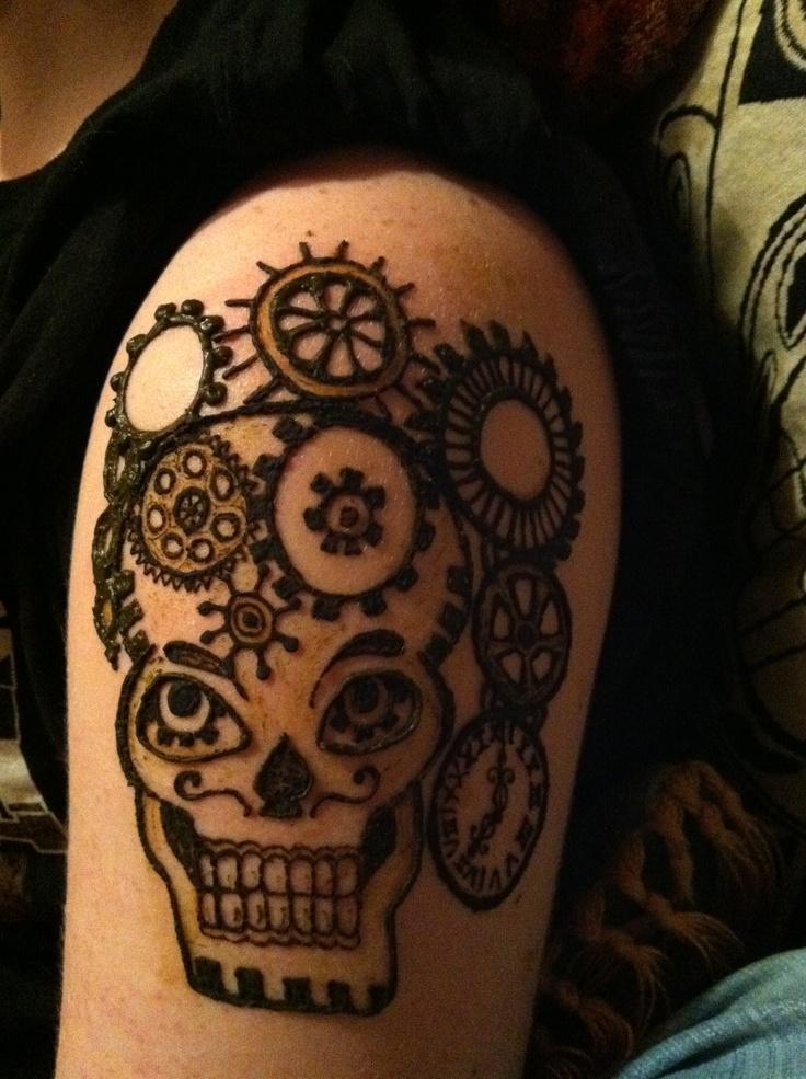 Skull Henna Tattoo: 8 Best Henna Tattoo Ideas Images On Pinterest