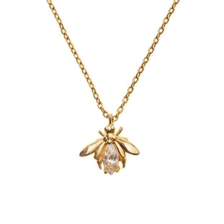 Buy Gold Vintage Bumble Bee Necklace from Oliver Bonas
